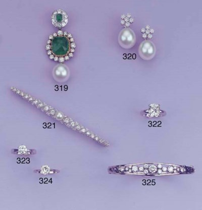 AN EMERALD CULTURED PEARL AND