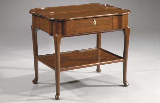 A Dutch mahogany smoking table