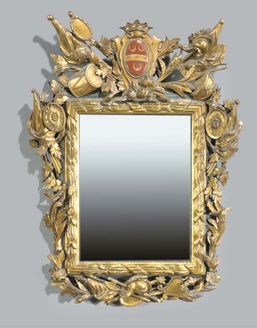 An Italian parcel-gilt and pol