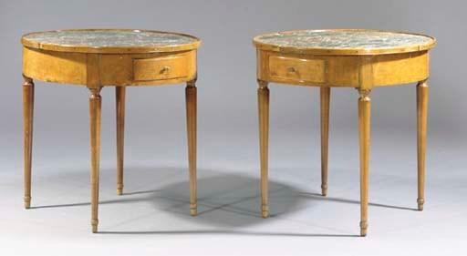 A pair of Directoire beechwood