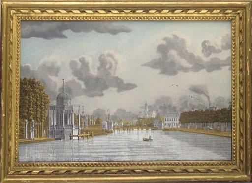 A Dutch verre églomisé picture