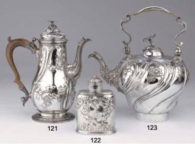 An English silver hot-water ke