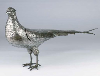 A large German silver model of