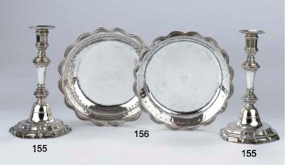 Two French silver dishes