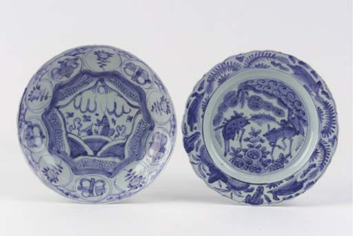 Two blue and white 'kraak pors