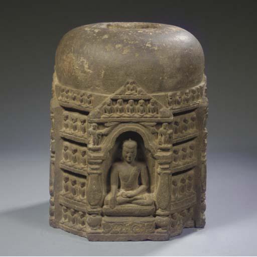 A Northeast Indian, Pala style, phyllite stone stupa section