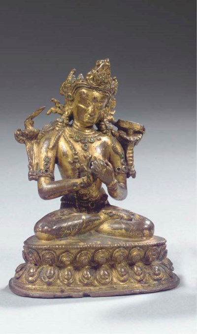 A Nepalese bronze figure of Ma