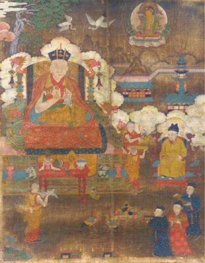 A East Tibetan thang.ka depict