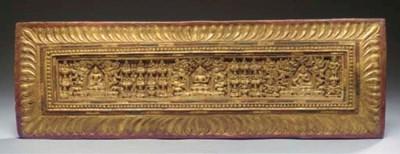 A Tibetan gilt-wood manuscript