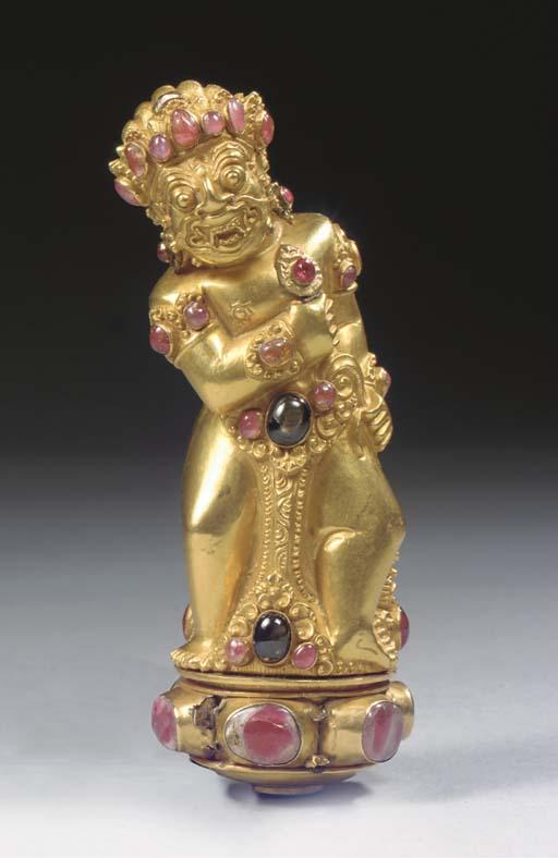 A Balinese gold keris hilt
