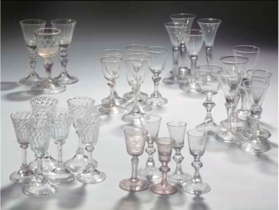 Thirty various goblets
