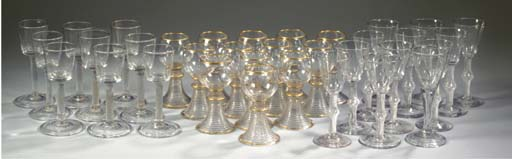 Thirty-four various goblets