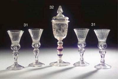 A set of four Saxon engraved f