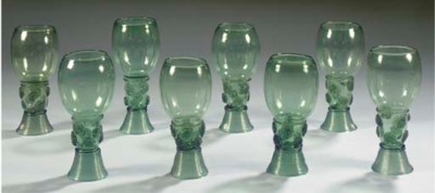 A set of eight Roemers