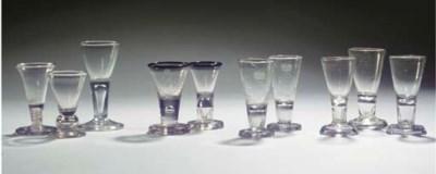 Ten various firing glasses