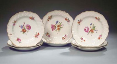 A set of eight Amstel floral p