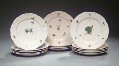 A set of twelve floral Amstel