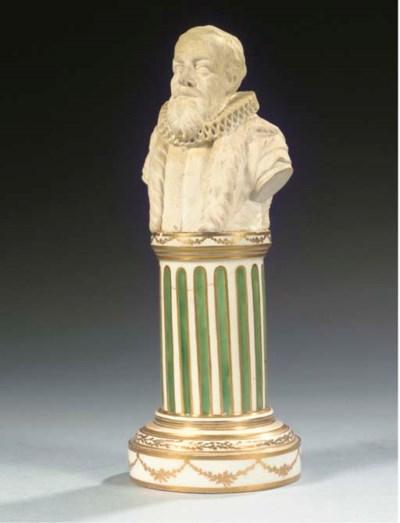 A Loosdrecht pedestal bust of