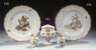 A small Meissen two-handled or