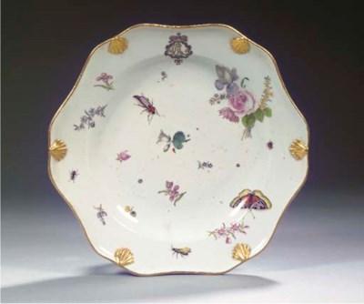 A Meissen floral monogrammed d