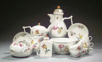 (26) A Meissen floral coffee a