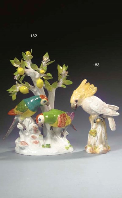 A Meissen group of South Ameri