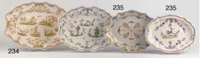 Three various French faience d