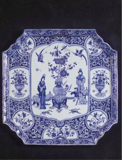 A Delftware blue and white rec