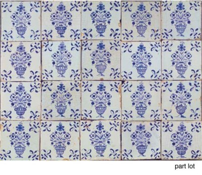 A series of forty Dutch blue a
