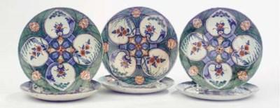 A set of six Dutch Delft polyc