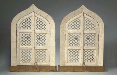 A pair of North Indian ivory s
