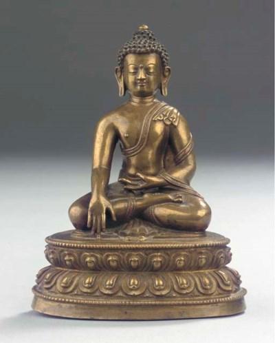A Tibetan bronze figure of Aks