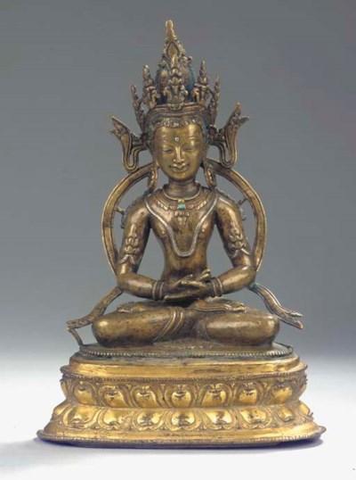 A Tibetan bronze figure of Ami