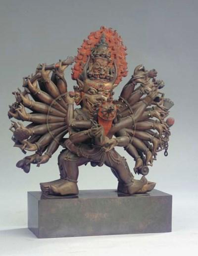 A Tibeto Chinese bronze figure