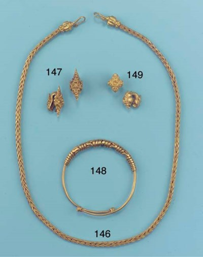 A Javanese gold bracelet