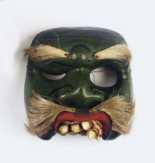 Five Balinese wood masks