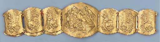 A Straits Chinese gold belt