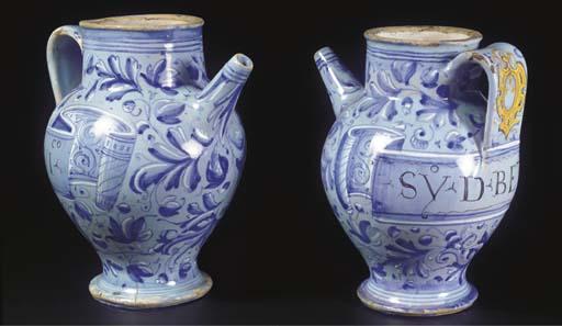 A set of two Marchegian maioli