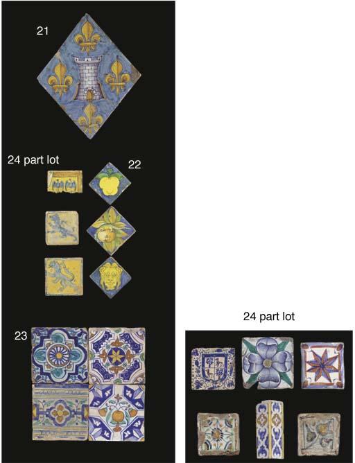 Four early Dutch polychrome or
