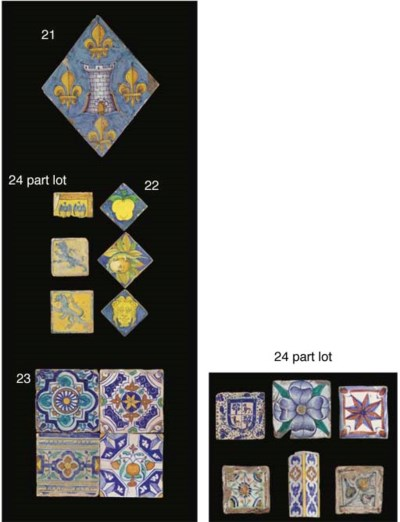 Four early Dutch polychrome or