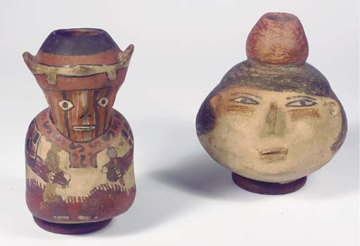 Two Nazca Figural Vessels