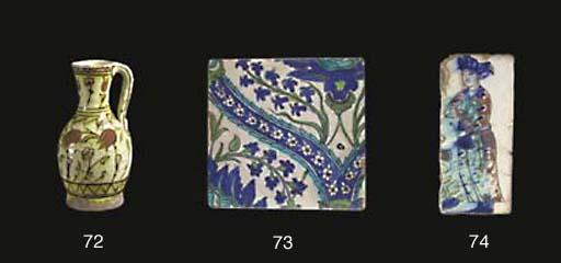 An Iznik pottery jug