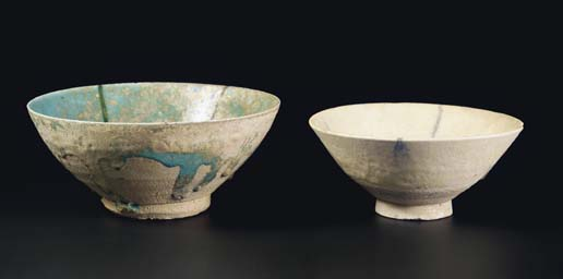 A Nishapur turquoise bowl and