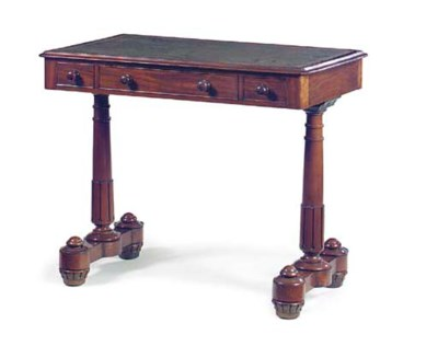 A WILLIAM IV MAHOGANY WRITING-
