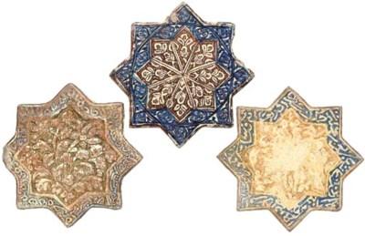 THREE ILKHANID COBALT BLUE AND