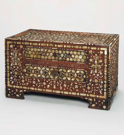AN OTTOMAN IVORY AND MOTHER-OF