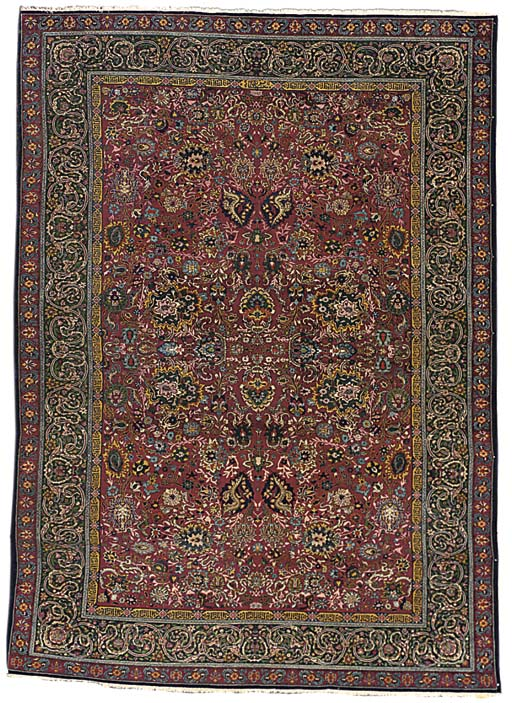 A PART-SILK TEHRAN CARPET