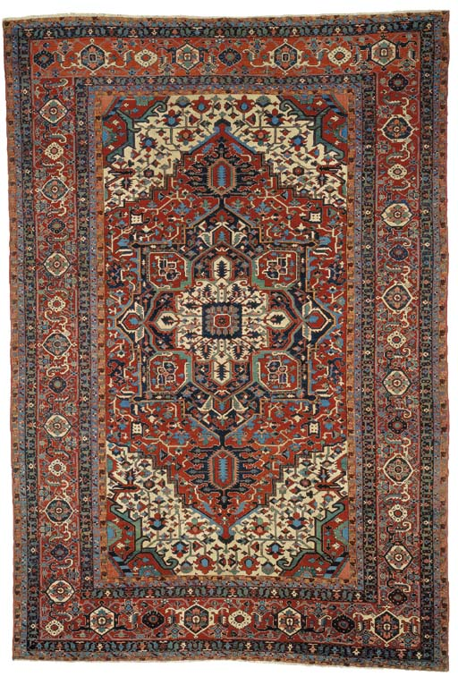 A LARGE KARADJA CARPET