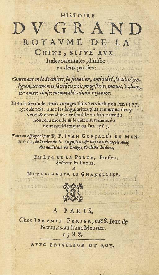 JUAN GONZALES DE MENDOZA (1545