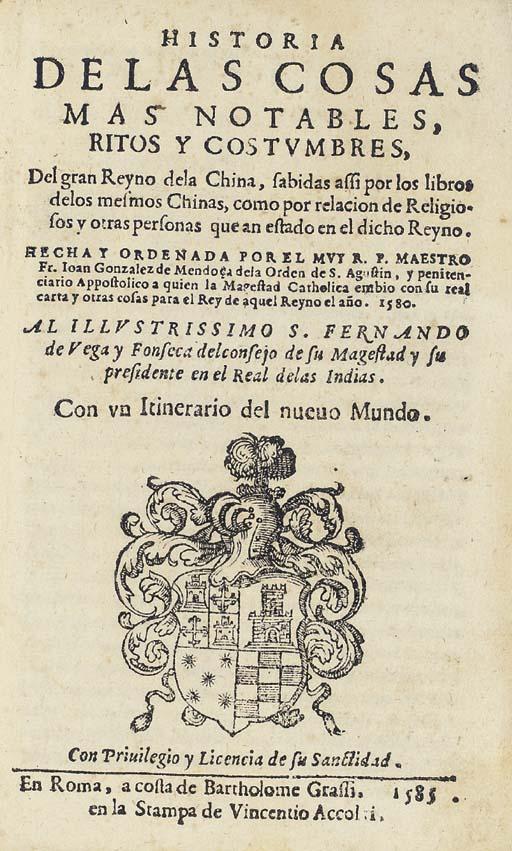 JUAN GONZALEZ DE MENDOZA (1540